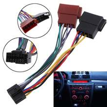 1pc 16pin radio wire harness audio connector line replacement