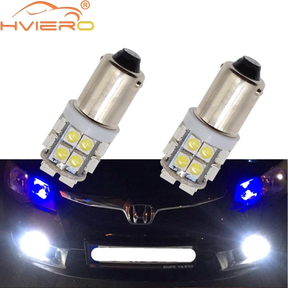 2X White Led T11 Ba9s T4w 8Led 1210 Auto Led Plate Bulb Festoon Dome Door Bulb Trunk Light Marker Gauge Lamps Dc 12v