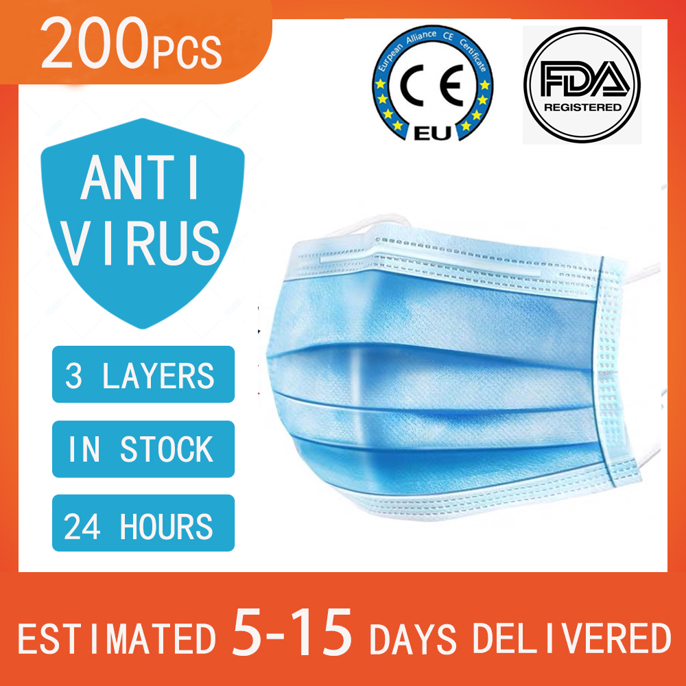 Disposable 3 Laye Face Mask Flu Masques Anti Virus Pm2.5 Filter Kids Baby Dust Masks CE FDA BFE 94.1 Such As N95 Ffp2 Kn95