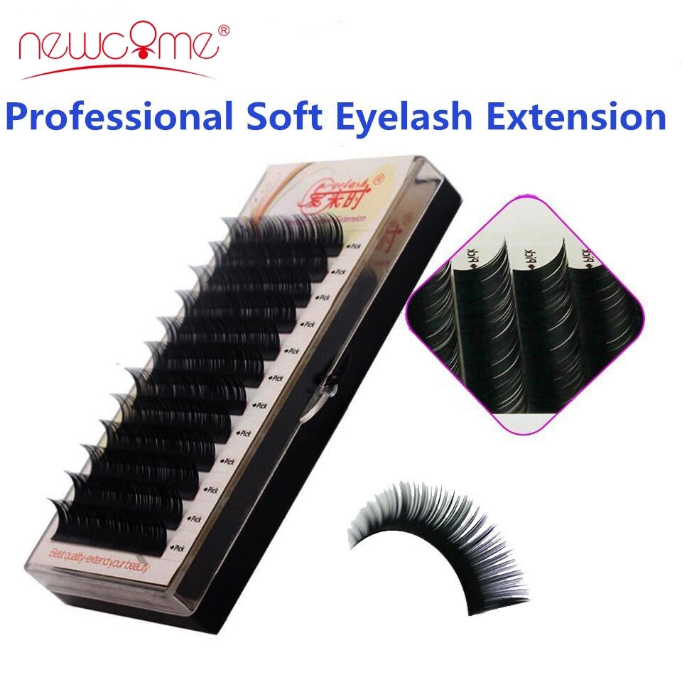 Eyelashes Extension Individual Silk Volume Faux Mink Lash Extension Premium Handmade Eyelash Natural Soft Cilios Lashes Make Up