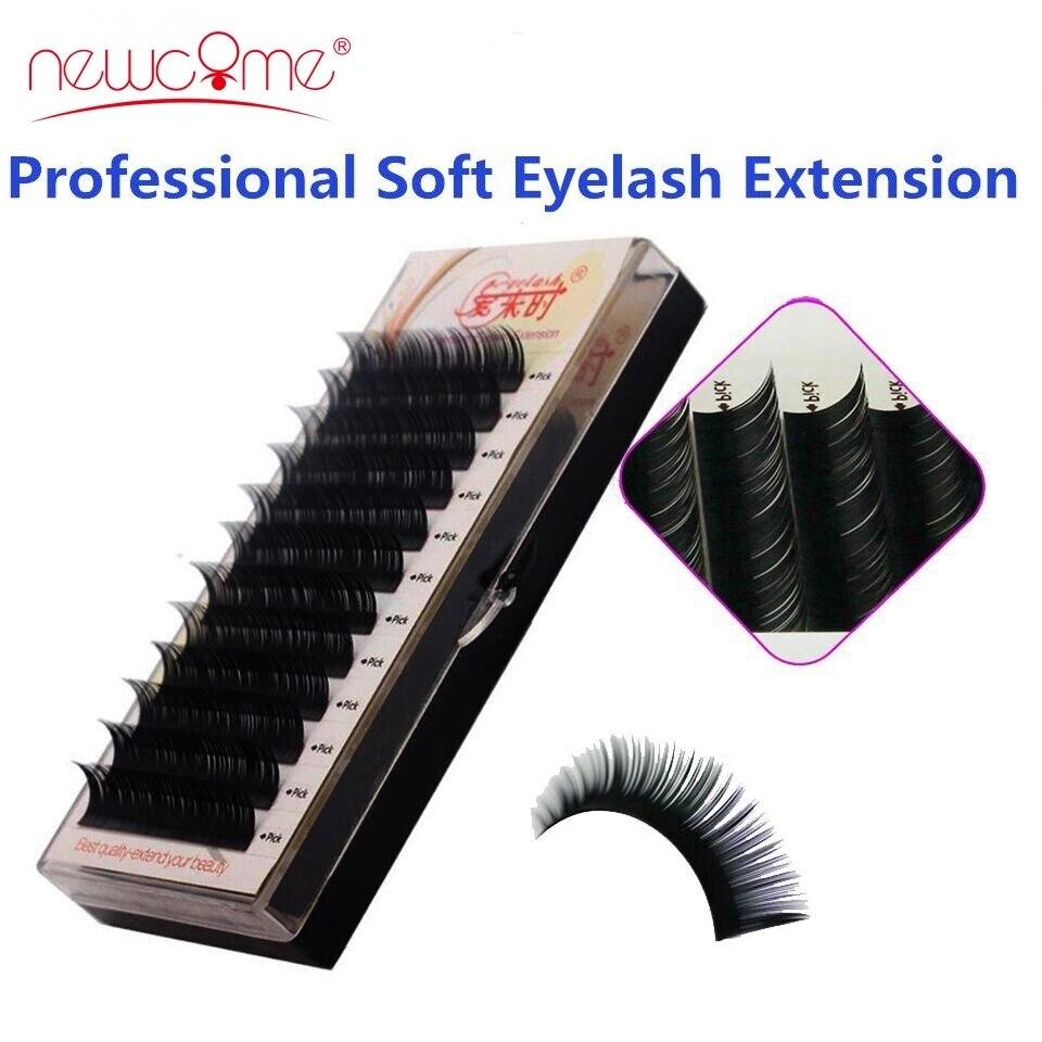Eyelashes Extension Individual Silk Volume Faux Mink Lash Extension Premium Handmade Eyelash Natural Soft Cilios Lashes Make Up