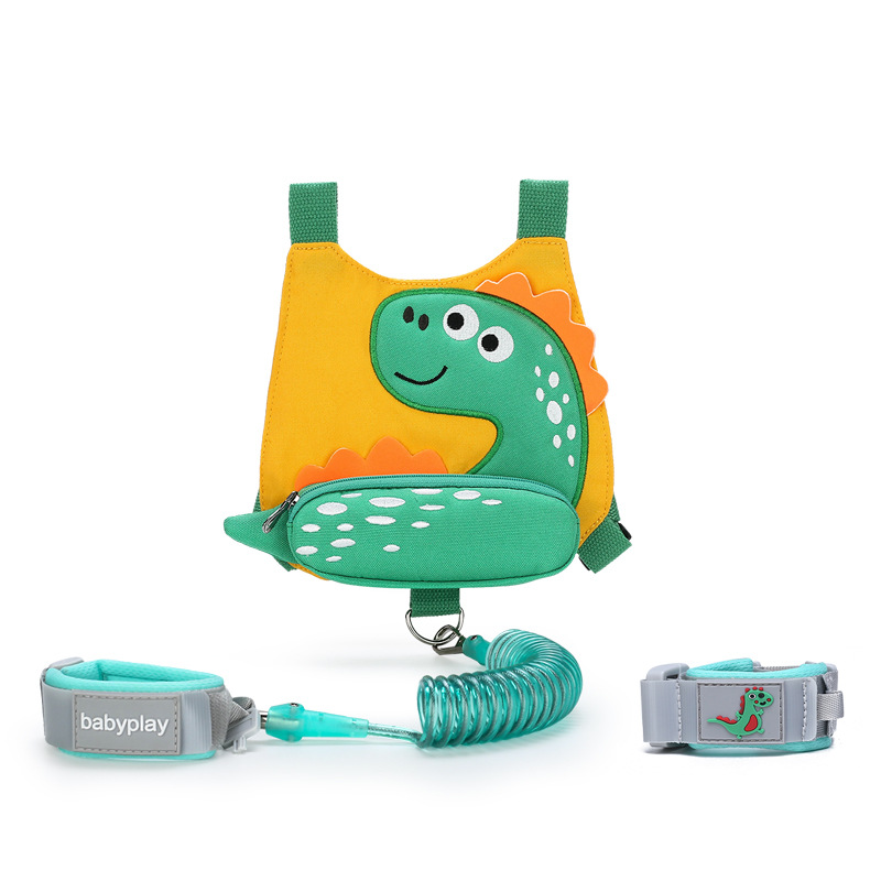 New Fashion Nylon Cartoon Dinosaur Baby Anti-lost Pack Children's Bag Wholesale Birthday Gifts For Children  For 2 Years Up Baby