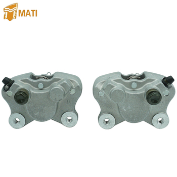 Mati Front Left Right Brake Caliper with Pads for Arctic Cat ATV 250 300 375 400 454 500 Bearcat Replacement 0402-011 0402-010