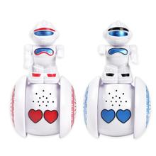 Cute Interactive Tumbler Robot Toy Lighting Music Induction Walking Electronic R