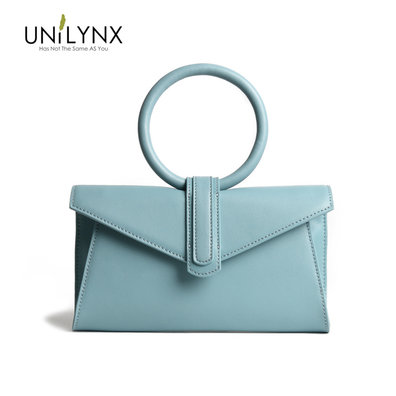 UNILYNX Women Shoulder Bag 2019 Luxury Handbags Women Bags Designer Version Luxury Wild Girls Small Square  leather bag Clutches