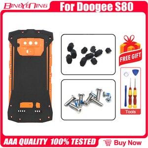 Image 4 - 100% nowy oryginalny do 5.99 calowy telefon DOOGEE S80 pokrywa baterii tylna obudowa case + tylna pokrywa zaslepka + śruby