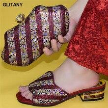 ใหม่มาถึงอิตาเลี่ยนปั๊มฤดูร้อน 4.5 ซมรองเท้ากระเป๋าชุดขายส่ง 2020 รองเท้าและการจับคู่สไตล์ใหม่ผู้หญิงปั๊ม