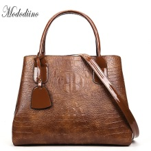 Mododiino Women Handbags Crocodile Pattern Shoulder Bag High Quality Leather Messenger Designer Luxury Handbag 2019 DNV1177