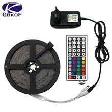 Free Shipping hot 3528 RGB led strip light 5M 300SMD stripe 24keys SMD IR Remote Controller 5050 rgb