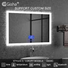 Gisha Wall-mounted Smart Mirror LED Bathroom Mirror Explosion proof Anti-fog Mirror Bathroom Makeup Mirror 2G8028