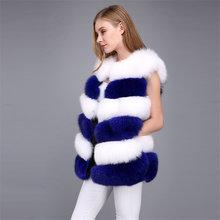 Зимнее пальто женская меховая куртка жилет из лисьего меха шесть