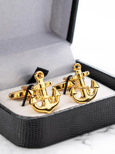 Ship Anchor Jewelry Cufflinks Shirt Gift Brass-Material High-Quality Mens French New