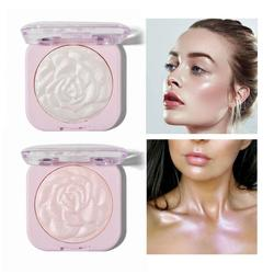 3D Oil Control High Light Long Lasting Waterproof And Brighten Relief Flower Repair Powder Blush Palette Cosmetics TSLM2