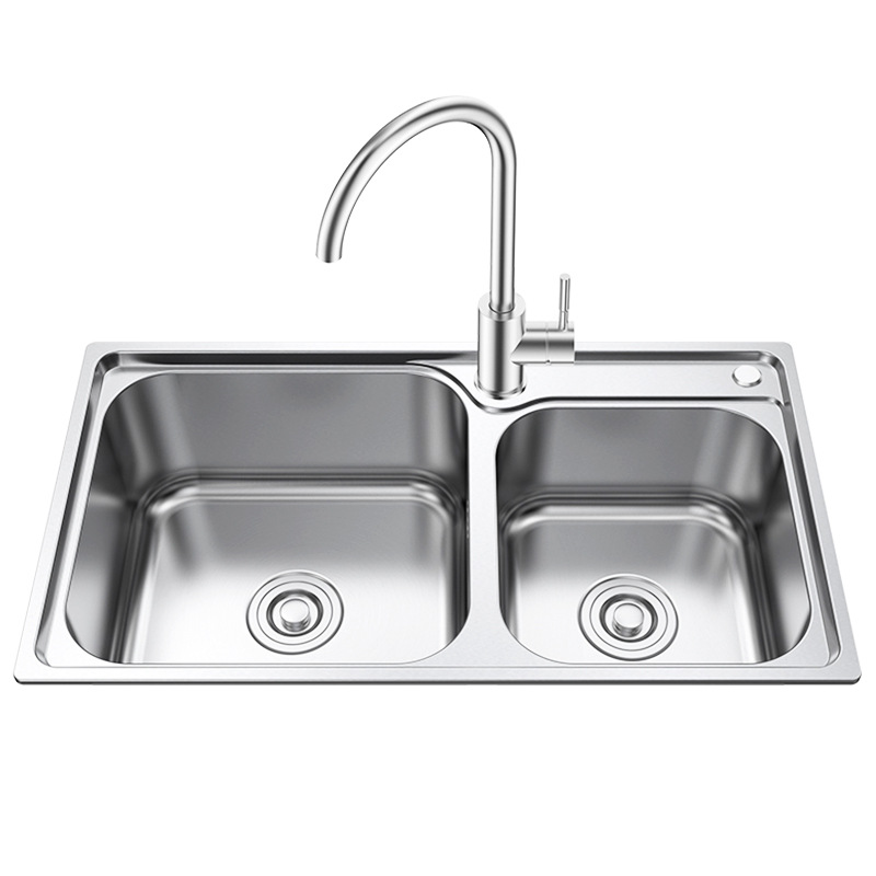 faw bathroom 304 stainless steel kitchen vegetables basin sink double dishpan xiancai basins suit