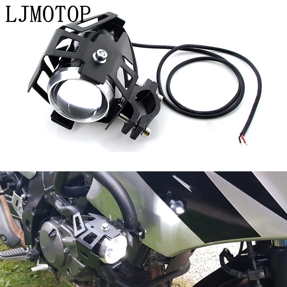 Motosiklet farları yardımcı lamba U5 led spot 12V DRL Honda CBF1000 CB600F CBF600 CBR600F Hornet 250 cb400 title=