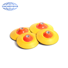 Volodymyr Soft Edge Backing Plate for Polishing Pad Buffing Pads Rotary Polisher 5 or 6 Inch M14 M16 Adhesive Back Plate