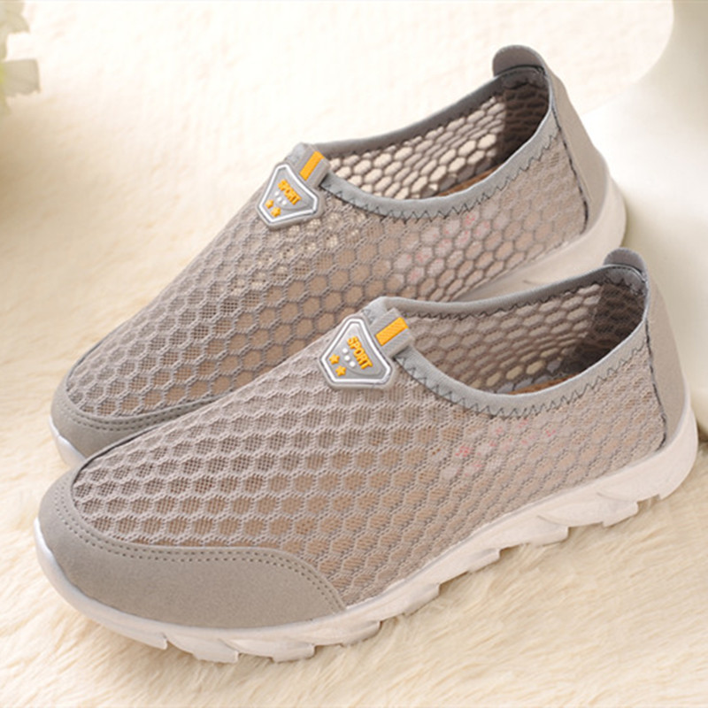 Cresfimix Women Cute Grey Mesh Breathable Flat Shoes Lady Soft & Comfortable Flats Female Outdoor Summer Shoes Zapatos De Mujer