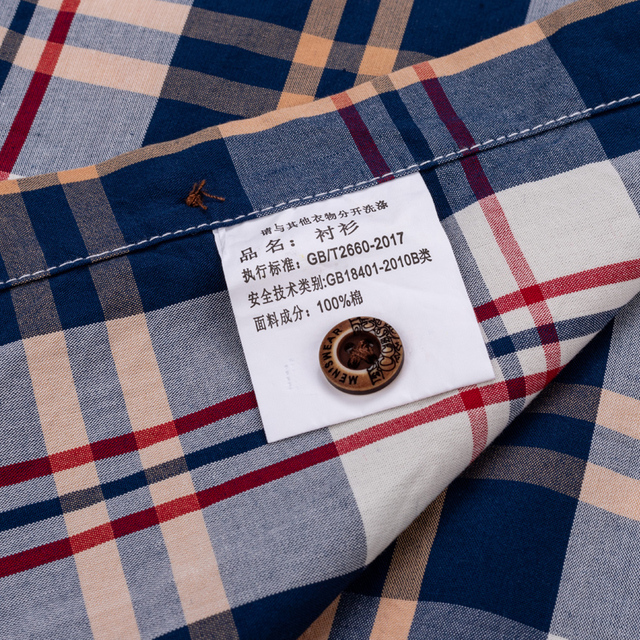 England Style Contrast Casual Checkered Shirts 4