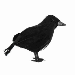 Simulation Crow Toy Black Crow Props Feather Bird Halloween Ghost Festival Supplies Halloween Party Decoration Crow Toy Model
