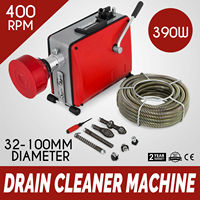 32 100mm pipe cleaning machine 390W pipe cleaner sewage electric plumbing