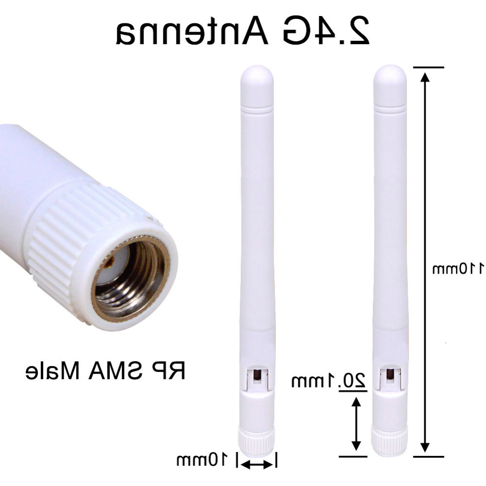 5 Pcs 2-3 Dbi 2.4Ghz WIFI Antenna RP SMA Male Universal Antennas Amplifier WLAN Router Antenne Connector Booster