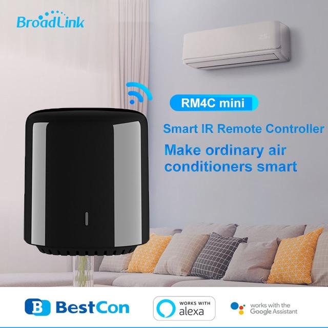Broadlink Bestcon Smart Home, Original, RM4C Mini WiFi + IR + télécommande 4G, prise ue, contrôleur sans fil, travail pour Alexa Google Home
