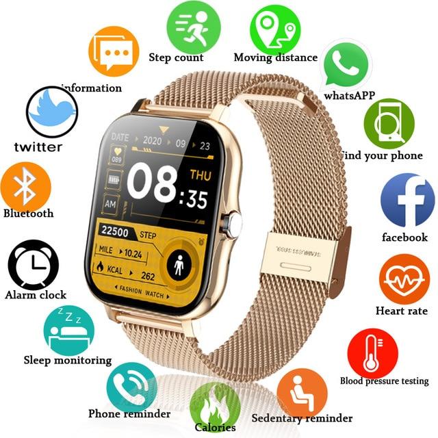 Bluetooth Answer Call Smart watch Women Men Full Touch Dial Call Fitness Tracker 2021 Waterproof 4G ROM Smartwatch for women+box 1