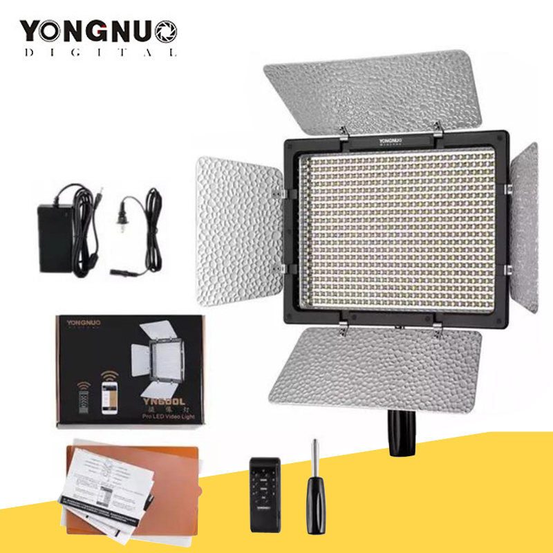 Светодиодный светильник YONGNUO YN600L YN600 для видеосъемки, панель с регулируемой цветовой температурой 3200K-5500K, светильник для фотостудии ing