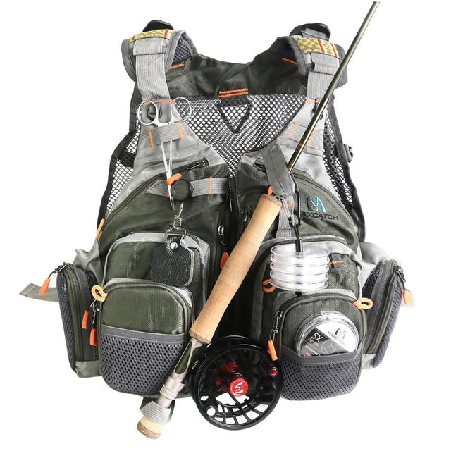 Life Jacket Vest Suitable for Fishing and Outdoor Activities Fly Fishing Life Jacket with Multi-Pockets Adjustable Vest for Men and Women