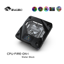 Block-Temperature Water-Block Bykski Inter for CPU Digital-Display
