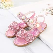 Disney Frozen Fashion Girls kids Sandals Girls Bow Princes Shoes For Girls Summer Children Princess Elsa Party Sandals