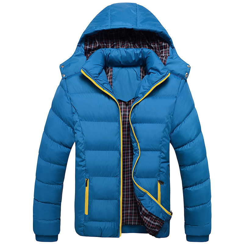 Image 4 - 2019 New Men Winter Jacket Coats Quality Cotton Padded Hooded Wadded Thick Warm Outerwear Casual Male Parkas XL 4XL-in Parkas from Men's Clothing