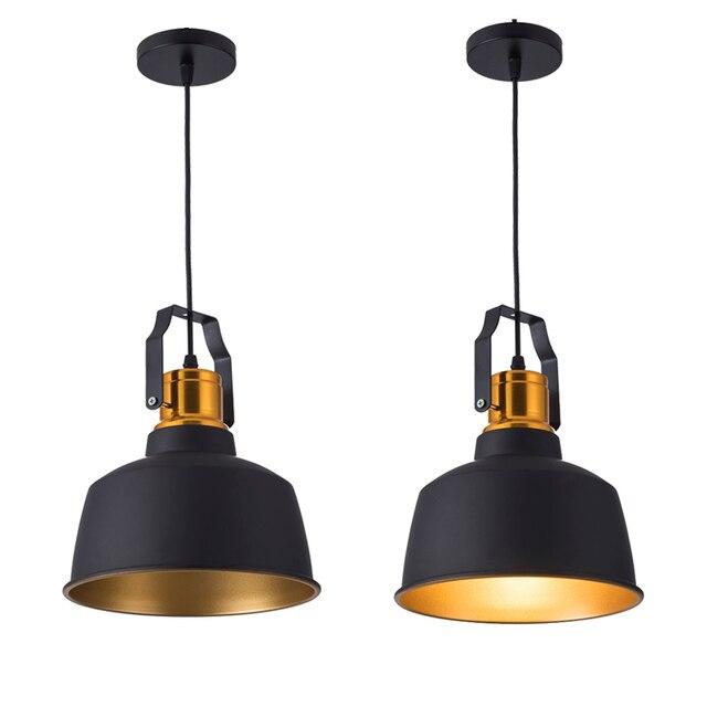 Lampe suspendue en aluminium, design Vintage, luminaire décoratif dintérieur, idéal pour un Loft, ampoules E27, idéal pour une salle à manger, nouvel arrivage pendentif LED, 12W