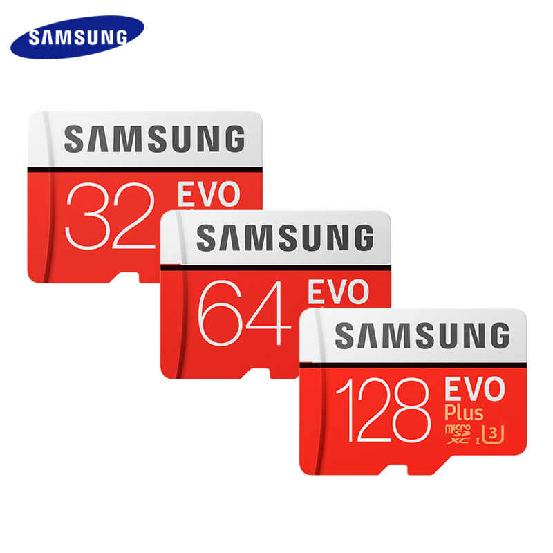 100% Originele Samsung Geheugenkaart Up Tp 100 Mb/s 64Gb 128Gb Klasse 10 Microsd U3 Tf Card UHS-I 256Gb Evo Plus Microsd Flash Card
