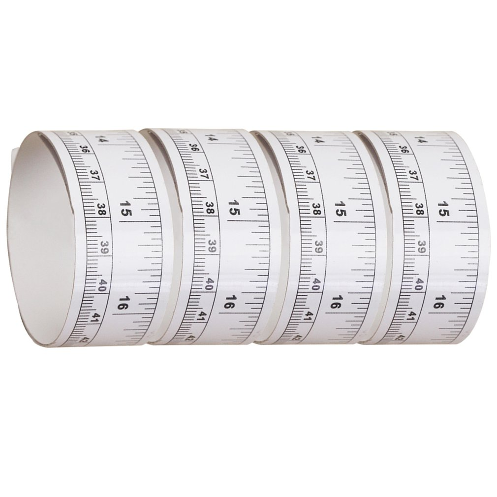 sticky ruler 90cm Sticky Scale Self Adhesive Metric Measure Gauge Tape Ruler white/&black