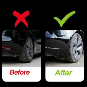 Image 3 - Guardabarros de coche de fibra de carbono, accesorio de repuesto sin Error para Tesla modelo Y 2021, 4 Uds.
