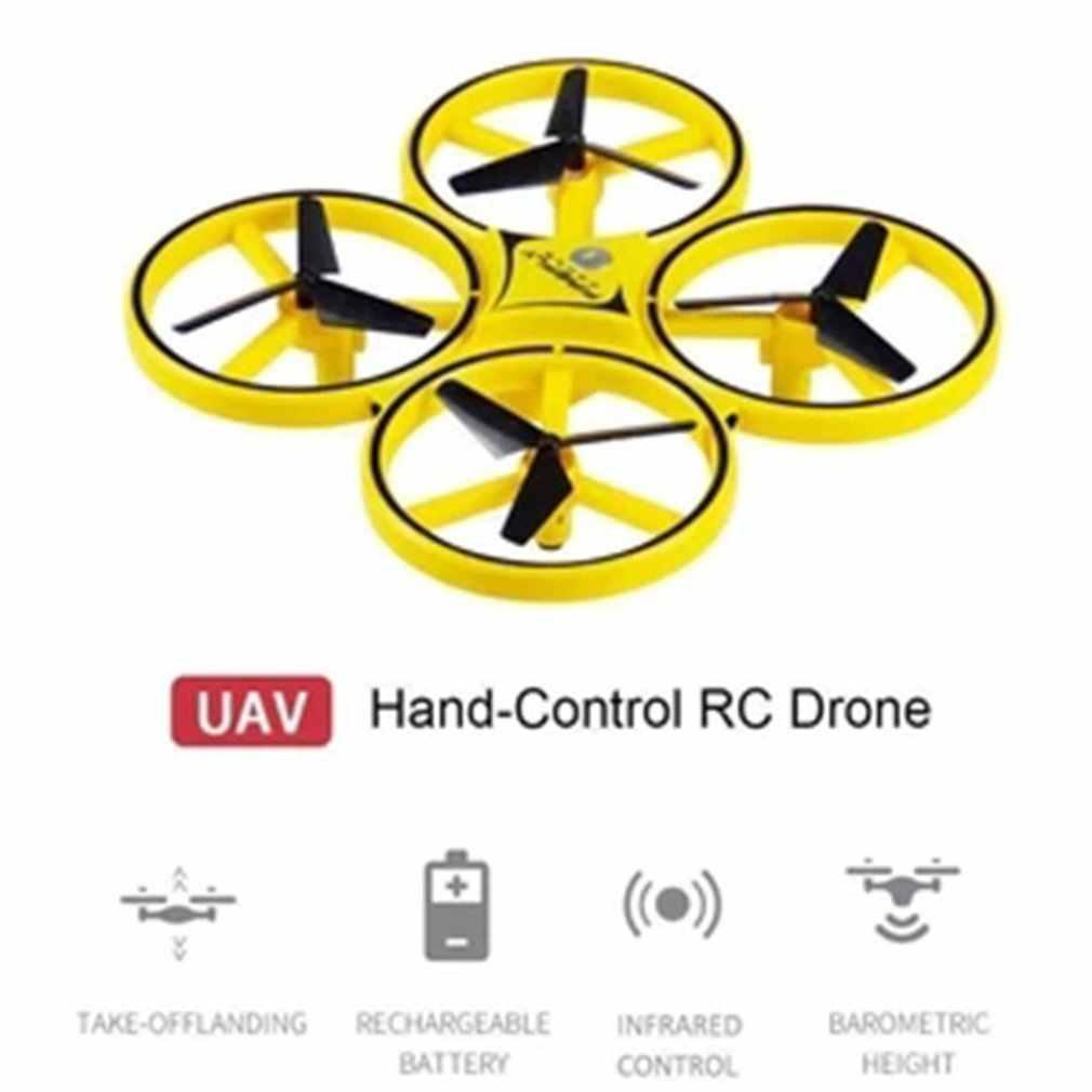 Детская самолета светодиодный освещение для беспилотных дронов квадрокоптеров с четырьмя осями Смарт-часы игрушка дистанционного Управление жест взаимодействовать игрушка