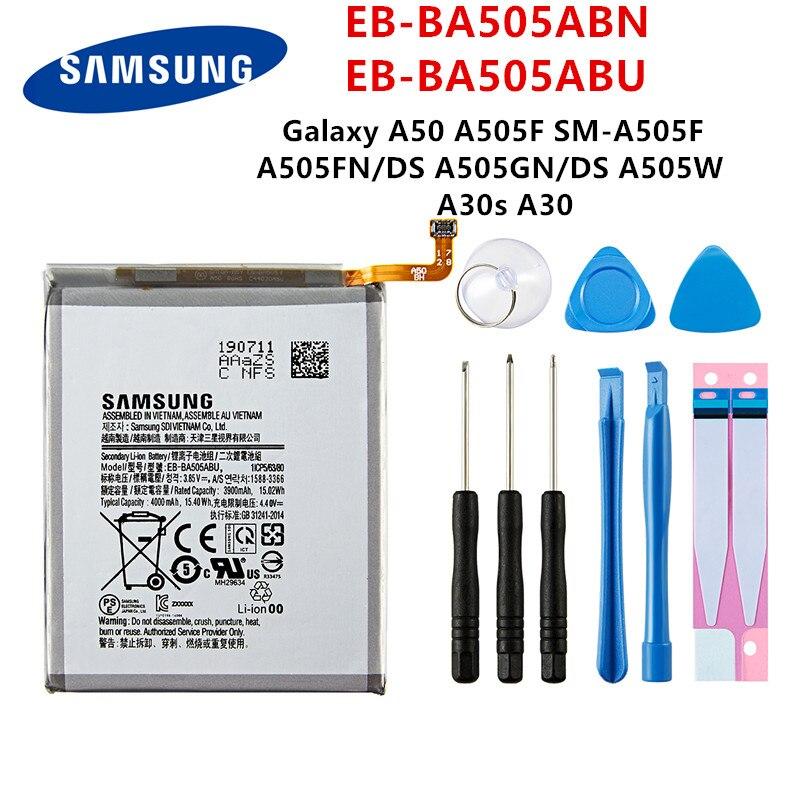 SAMSUNG Orginal EB-BA505ABN EB-BA505ABU 4000mAh Battery For SAMSUNG Galaxy A50 A505F SM-A505F A505FN/DS/GN A505W A30s A30+Tools