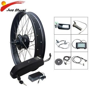 Kit de Bicicleta eléctrica de llanta ancha, rueda de Motor trasera sin...