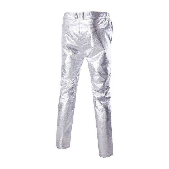 2Pcs Mens Gold Sliver Club Wear Show Dress Suits Blazer+Trousers Sets Stage Performance Slim Fit Dance Plus Size 2021 New 4