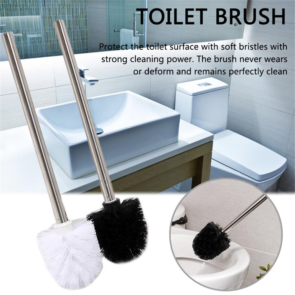 Plastic Stainless Steel Toilet Brush Bathroom Toilet Cleaning Brush Family Decontamination Cleaning Appliances Toilet Brush