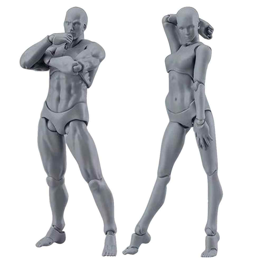 Anime arquétipo ele ela ferrite figma desenho móvel figuras modelo brinquedos kits de manequim arte esboço desenhar bonecas corpo