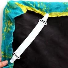 4 шт. простыня наматрасник одеяла домашний зажим держатель крепеж эластичные ремни фиксация Противоскользящий ремень белый