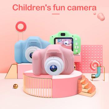 Aparat dziecięcy 1080P aparat cyfrowy HD 2 calowy aparat fotograficzny cute cartoon zabawki prezent urodzinowy dla dzieci 800w aparat zabawki dla dzieci tanie i dobre opinie Z tworzywa sztucznego 3 lat Unisex Children Camera 1080P HD Screen Zasilanie bateryjne SOFT Edukacyjne Mini Miga Brzmiące