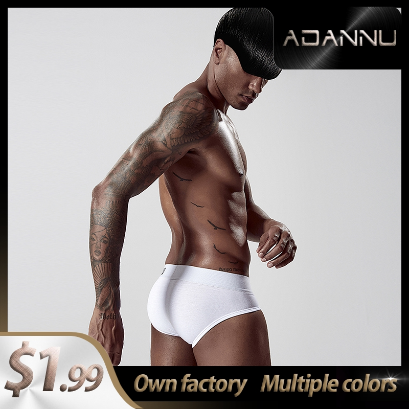 2020 New Cotton Breathable Mens Briefs Underwear Shorts Innerwear Sexy Gay Men Underwear Bikini Men Briefs Srting Man AD127