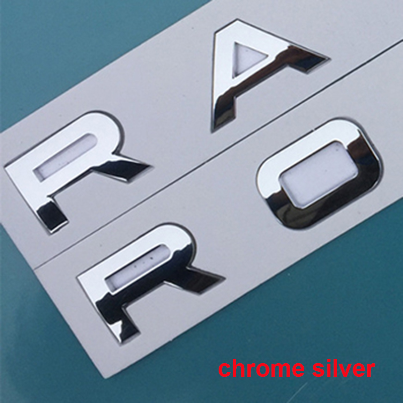 Image 5 - Letters Emblem for RANGE ROVER VELAR SV Autobiography Ultimate Edition DISCOVERY SPORT Car Styling Hood Trunk Logo Badge Sticker-in Emblems from Automobiles & Motorcycles