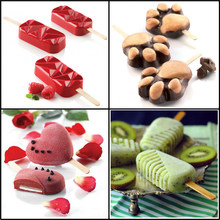 Meibum – moule à crème glacée en Silicone, 11 Types, plateau à cubes avec bâtons, outils de Dessert pour enfants, congélateur, fabricant de jus