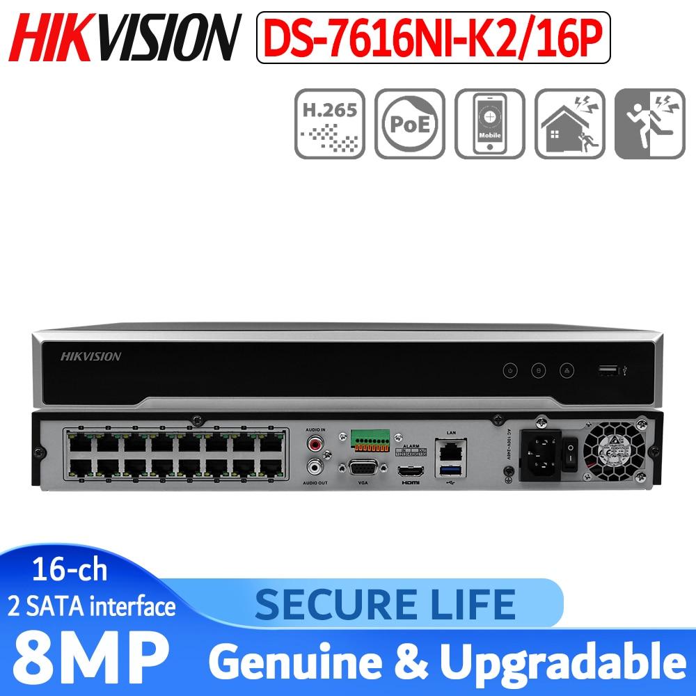 W magazynie wersja międzynarodowa DS 7616NI K2/16 P 16ch H.265 NVR 4K dla do 8MP kamery plug & zagraj w NVR 2 SATA 16 POE w Rejestratory wideo do nadzoru od Bezpieczeństwo i ochrona na  Grupa 1