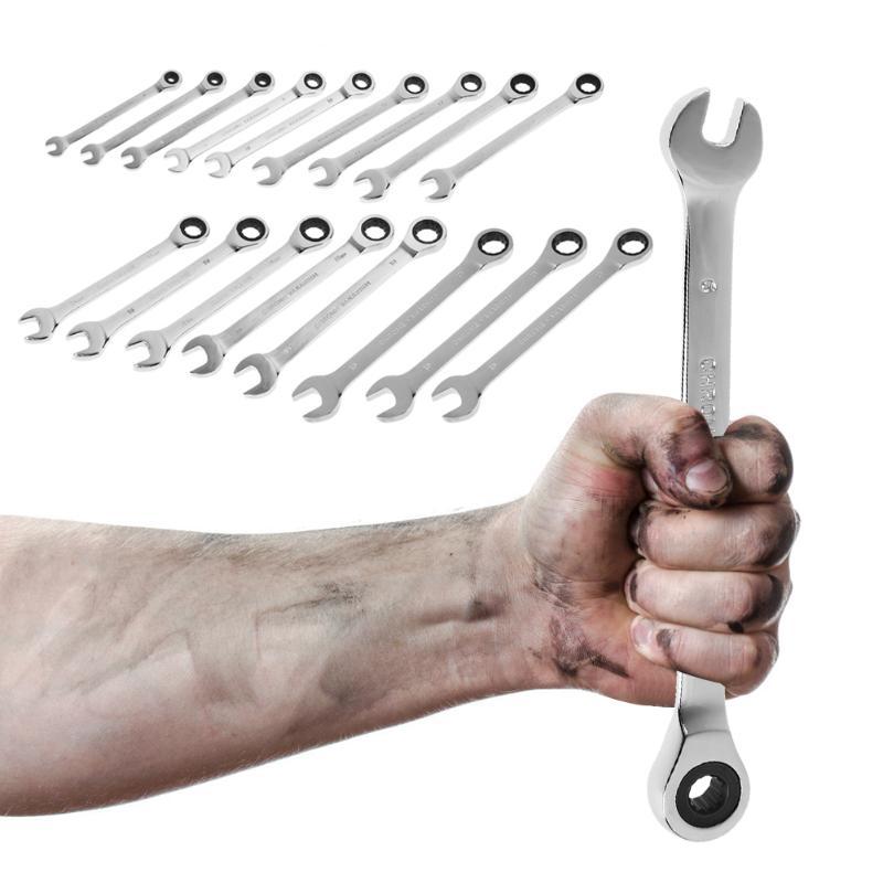 Outdoor Work Double Head Spanner Ratchet Combination Flexible Gear Wrench Gadget