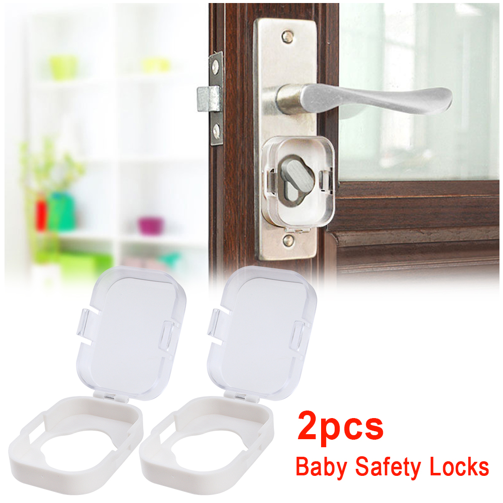 2pcs Cupboard Child Protective Cover Door Switch Security Knob Cabinet Toilet Gas Stove Adhesive Guard Baby Room Safety Lock